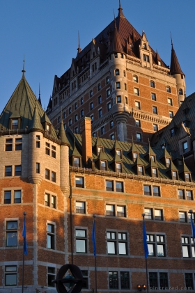 Chateau Frontenac Sunset - Old Quebec City