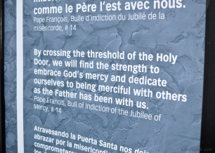 Holy Door Sign - Basilica Note-Dame-de-Quebec - Old Quebec City