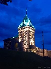 Kent Gate at Night - Old Québec City