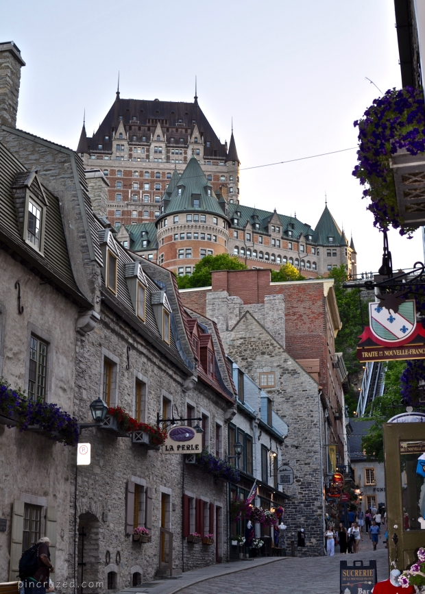 Lower Town view of Chateau Fontenac - Old Quebec City